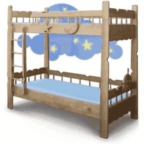 Двухъярусная кровать Врунгель 90x190
