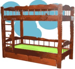 Двухъярусная кровать Сокира Старый корабль 80x190